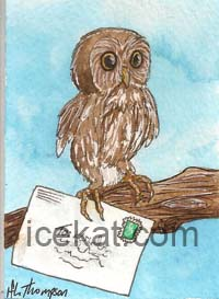 owl ACEO by IceKat