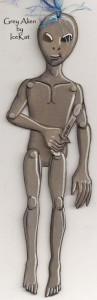 Grey Alien Paperdoll