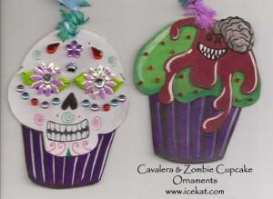 Cavalera & Zombie Cupcake Ornaments