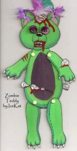 Zombie Teddy Paperdoll