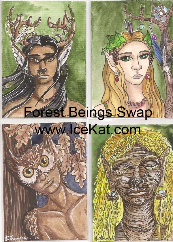People of the Forest Swap cards by IceKat