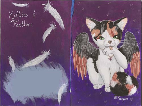 Kitties & Feathers Deco Cover