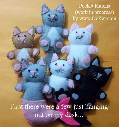 Felt Pocket Cats 1
