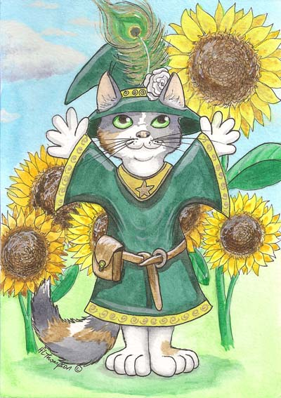 Midsummer Witch Cat by IceKat