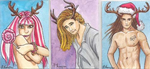 Antler People ATCs for Sal by IceKat
