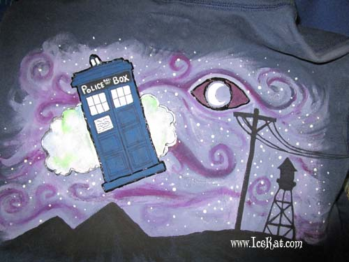 Doctor Who/Welcome to Night Vale mashup hoodie by IceKat