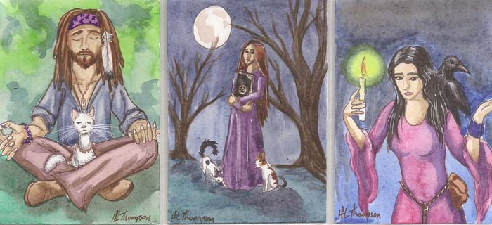 Witches and Their Familiars by IceKat