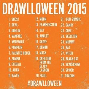Drawlloween prompts