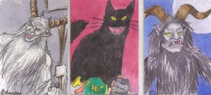 Krampus and Yule cat