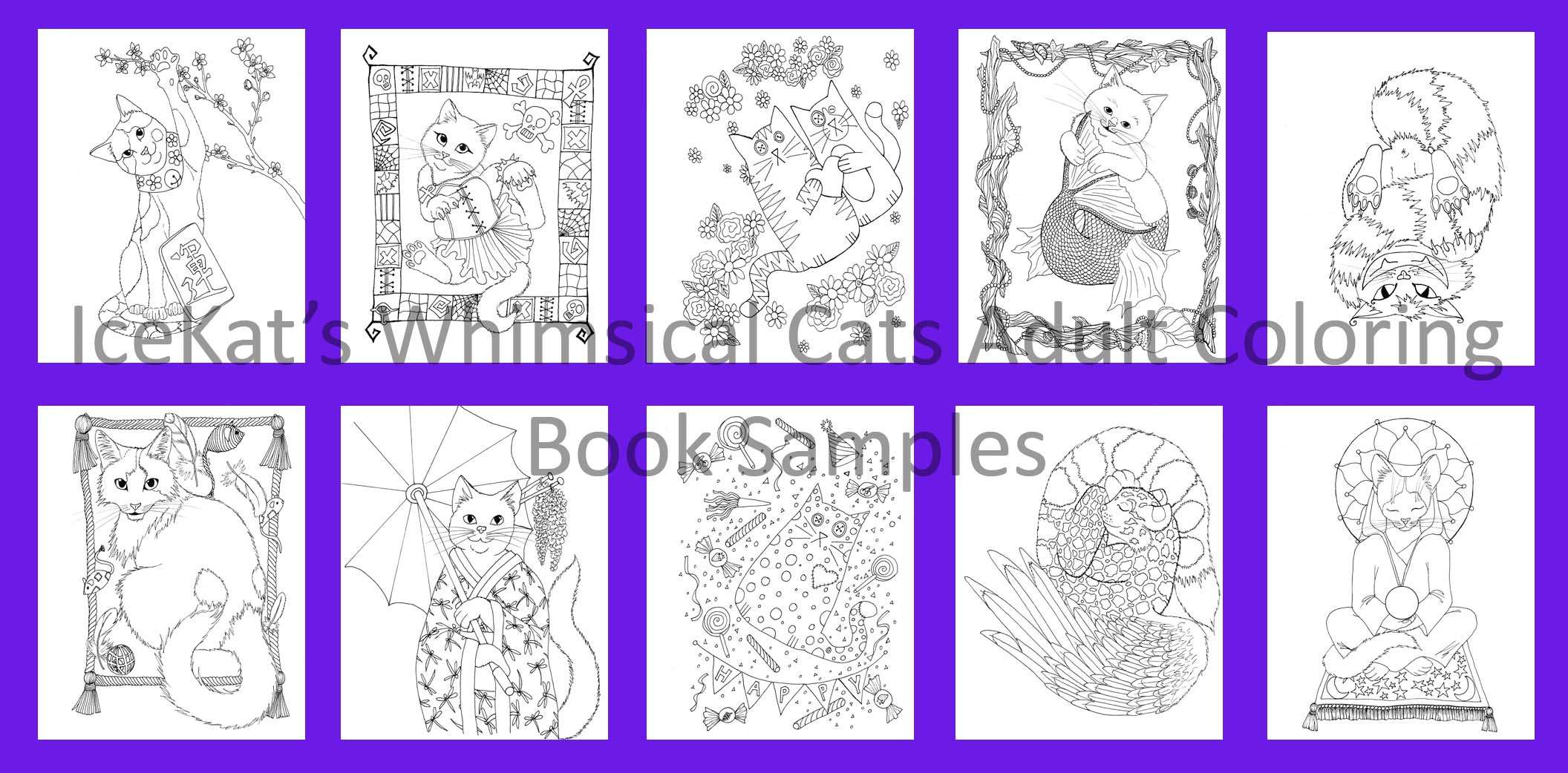 Whimsical Cats Samples