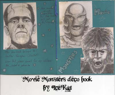 Movie Monsters deco book