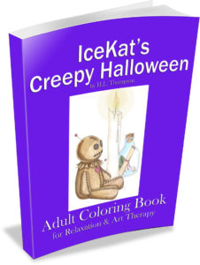 IceKat's Creepy Halloween Coloring Book
