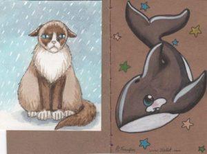 Rainy Cat and Kawaii Orca decos by IceKat