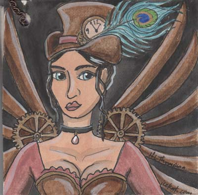 steampunk woman deco by IceKat