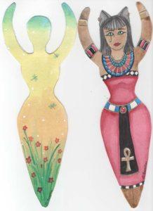 Springtime and Bast goddesses