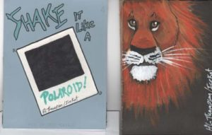 Polaroid and Orange Lion