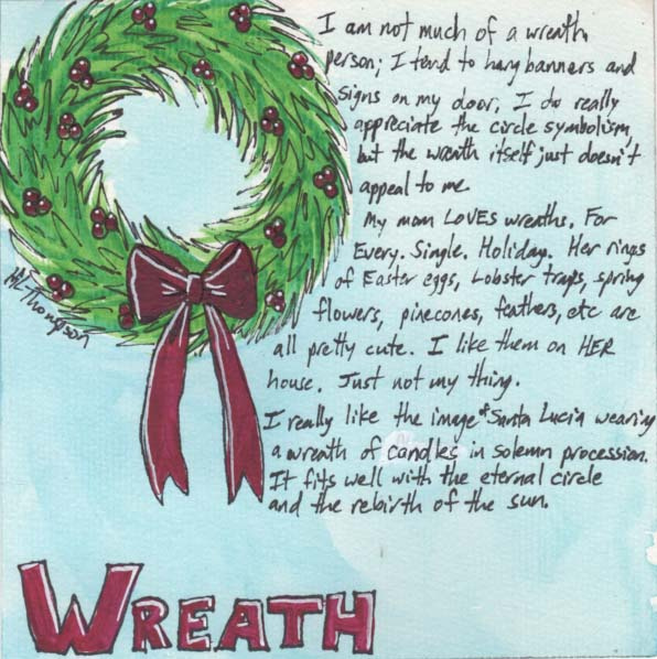 Day 5 wreath