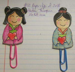 Feb Paperclips Kimono Girls
