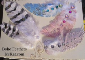 paper boho feathers